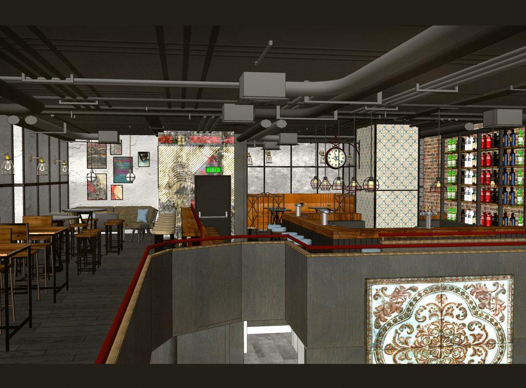 the hen house_Venue_Pizza Restaurant_Bar_fitout_freelance Interior Design_005