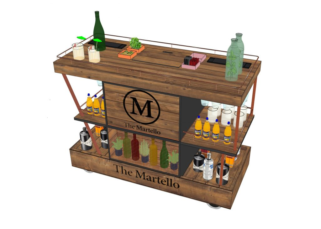 Hotel Drinks Cart Design